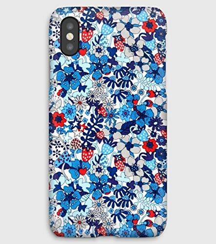 Liberty Fleur, coque pour iPhone XS, XS Max, XR, X, 8, 8+, 7, 7+, 6S, 6, 6S+, 6+, 5C, 5, 5S, 5SE, 4S, 4,