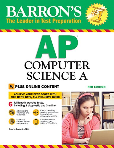 Barron's AP Computer Science A, 8th Edition: with Bonus Online Tests cover