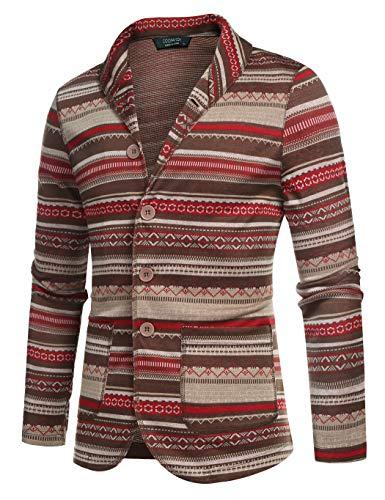 Vintage Jacket Blazer - COOFANDY Men's Casual Blazer Jacket Slim Fit Vintage Multi-Color Suit Sport Coat Lightweight Cotton Jackets