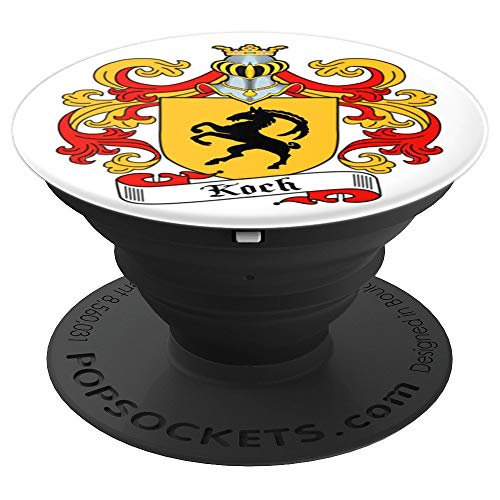 KOCH Family Crest Heraldry Coat Of Arms - PopSockets Grip and Stand for Phones and ()