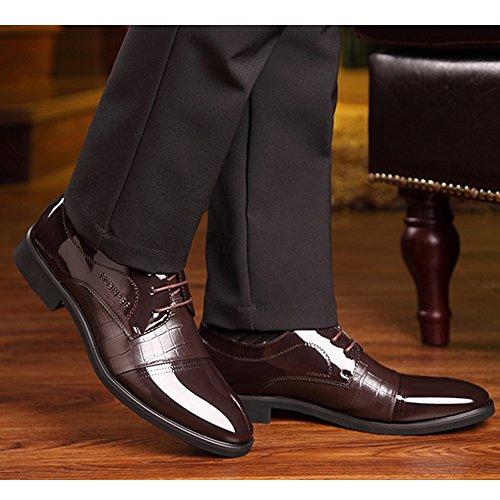 Uomo da Casual da Pizzo in Brown Scarpe Stringate Cerimonia Classiche A Classiche Uomo Oxford Uomo Scarpe da con Derby da Punta E x4twIwHq