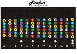 FineFun 100% vinyl Waterproof and Oil Proof Guitar Fretboard Note Decals Fingerboard Frets Map Sticker for Beginner Learner Practice Fit 6 Strings Acoustic Electric Guitar