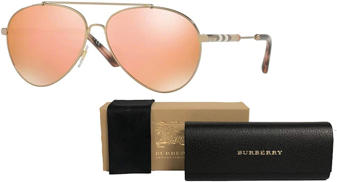 Burberry BE3092Q Pilot Sunglasses For Women+FREE Complimentary Eyewear Care Kit