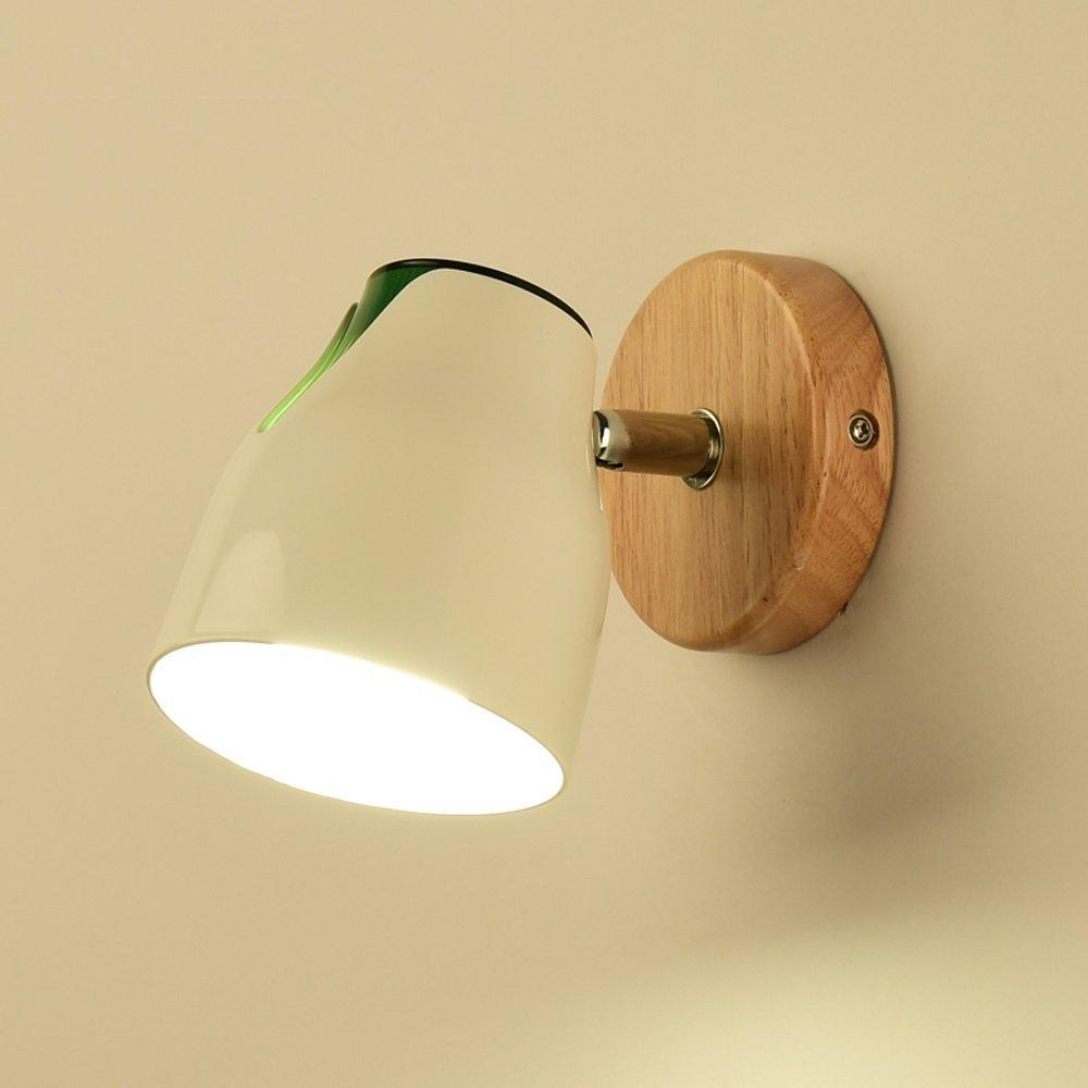 EMILF Home Massivholz Nordic Wohnzimmer Schlafzimmer Bett Wandleuchte Kreative Moderne Minimalistische Badezimmerspiegel Scheinwerfer Wandleuchte (Farbe   1-lamp-not Including Bulbs)