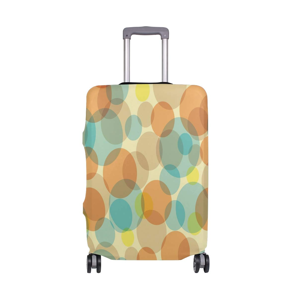 Baggage Covers Colorful Dot Pattern Art Abstract Washable Protective Case