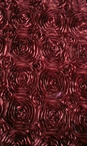 ArtOFabric Raised Roses Floral Satin Table Runner For Wedding, Bridal Shower, Dinner Party And Events-14