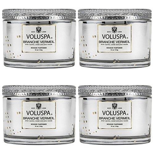 Voluspa Branche Vermeil Corta Maison Candle 11 oz (4 pack) by Voluspa