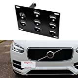 tow hook for volvo - iJDMTOY Euro Style Front Bumper Tow Hole Adapter License Plate Mounting Bracket For Volvo XC60 XC90 S90 (2nd Gen)