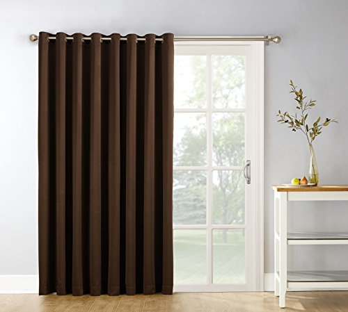 Sun Zero Easton Blackout Patio Door Curtain Panel, 100