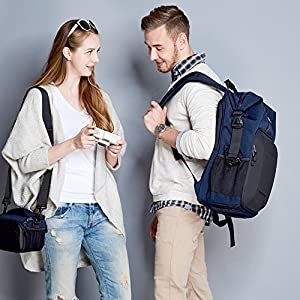 Evecase Digital Camera DSLR Backpack with Laptop Compartment by Evecase