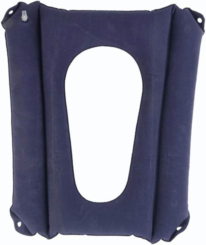 Asiento De Inodoro Asiento Inflable Almohadilla Plegable Ortopédica Cuidados En El Hogar Respaldo Multifunción Antideslizante Transpirable Portátil En El Anciano Dolor En Los Hues