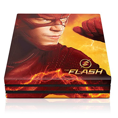 """Controller Gear The Flash """"Electric Yellow"""" - PS4 Pro Console Skin - Officially Licensed by Warner Bros - PlayStation 4"""