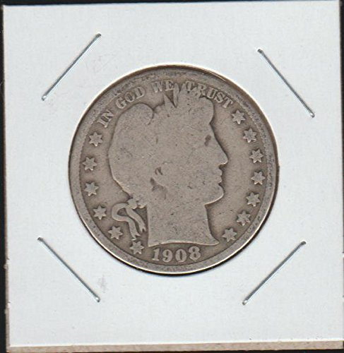1908 Barber or Liberty Head (1892-1915) Half Dollar About Good
