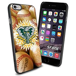 MLB, Oakland Athletics Team Cool iPhone 5s Smartphone Case Cover Collector iPhone TPU Rubber Case Black