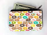 Donuts Donuts Bright Colorful Coin Purse Change Holder by Debbie's Designs