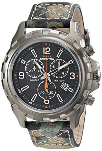 Timex Men's T499879J Expedition Rugged Chronograph Watch with Green Camouflage (Mens Camouflage)