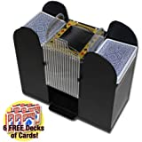 Brybelly Casino 6 Deck Automatic Card Shuffler with 6 Decks of Bicycle Playing Cards