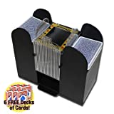 Brybelly Casino 6 Deck Automatic Card Shuffler plus 6 Free Decks of Bicycle Playing Cards