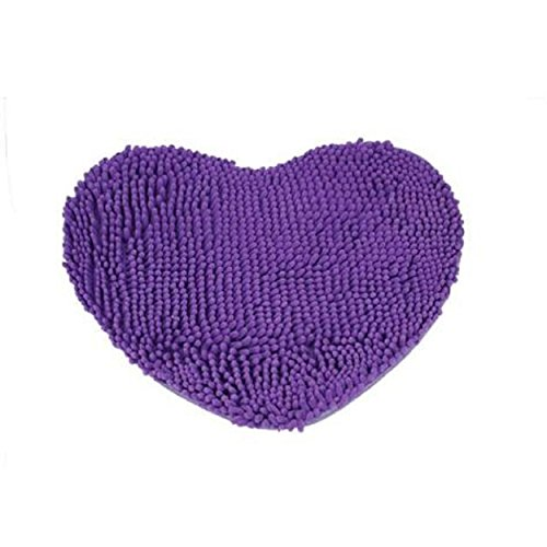 Kingfansion Bedroom Door Mat Heart Shaped Carpet Fluffy Chenille Rug Cushion (Heart Shaped Accessories)