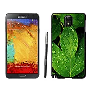 NEW Unique Custom Designed For Case HTC One M8 Cover Phone Case With Morning Dew Green Leaf_Black Phone Case