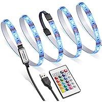 AMIR TV LED Backlight Kit, RGB Light Strip Kit Bias...