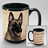 Dog Breeds (A-K) Belgian Malinois 15-oz Coffee Mug Bundle with Non-Negotiable K-Nine Cash by Imprints Plus (017)