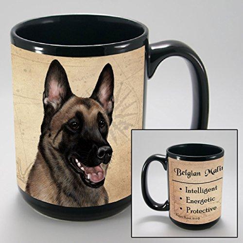 Belgian Malinois Mug (Dog Breeds (A-K) Belgian Malinois 15-oz Coffee Mug Bundle with Non-Negotiable K-Nine Cash by Imprints Plus (017))