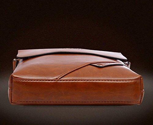 Bolsos De Moda De Los Hombres De La Bolsa De Hombro Bolsos Bolsos De Hombres De Cuero De La Cremallera Brown1