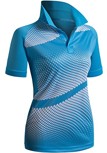 CLOVERY Women's Active Wear POLO Shirt Short Sleeve Dot Pattern – Sports Center Store