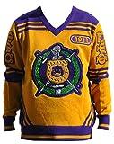 Omega Psi Phi Fraternity Mens Wool V-Neck Sweater Large Gold