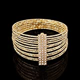 New Fashion Womens Vintage Gold Silver Bangle Punk Cuff Bracelet Jewelry#by pimchanok shop (Styles#19)