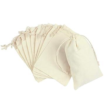 STOBOK Bolsas de Regalo Cordón Bolsas de joyería de algodón ...