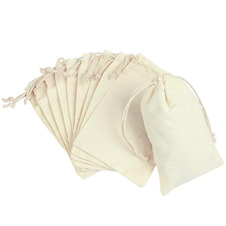 YeahiBaby Bolsa de Tela algodón vacías Invitados Bolsa de ...