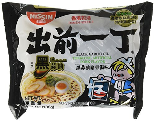 Instant Ramen - Nissin Demae Black Garlic Oil Instant Ramen Noodles 30 Packs
