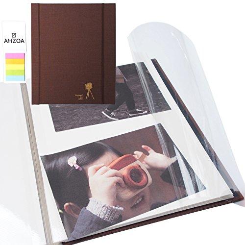Photo Album - Self-adhesive Album with 5 Colors Sticky Flag,