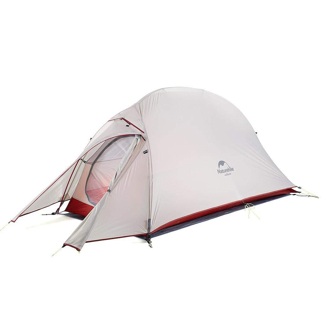 Naturehike 1人用 テント CloudUp1 アップグレード版 自立式 超軽量 コンパクト 4シーズン 防風 防水 専用グランドシート/収納袋付 灰色、20D