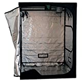 G-LEAF Diamond Mylar Reflective Hydroponic Growing Tent Indoor Plant Growing Room (Black, 60″x60″x80″) For Sale