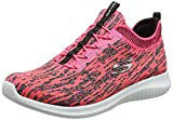 Skechers Sport Womens Ultra Flex Bright Horizon Sneaker,7.5 B(M) US,Pink-black