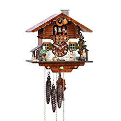 Schneider 11 Inch Black Forest Heidi With Jumping Goat Cuckoo Clock
