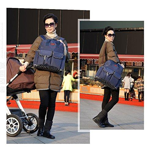 Kangming 5x Baby Windel Wickeltasche Mama Set Aufbewahrungsbox Rucksack Handtasche