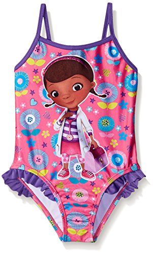 Disney Toddler Girls Doc Mcstuffins Swimsuit, Purple/Pink, 2T
