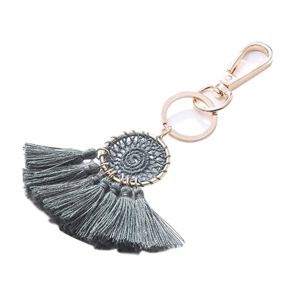 Meigold Porte-clés rétro en Forme de Pompon avec Porte-clés, Porte-clés, Pendentif, Cadeau créatif, 1, 13 * 1.5CM