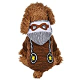 Spbamboo Pet Clothes For Small Dogs And Cats - Puppy Striped Bib With Hat Plush