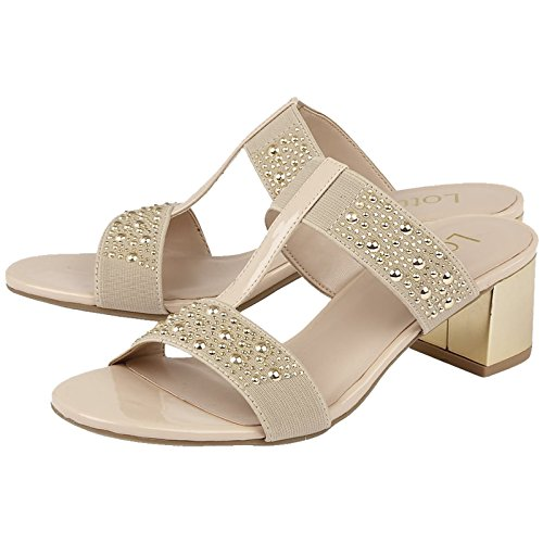Lotus - Sandalias de vestir para mujer beige beige Beige
