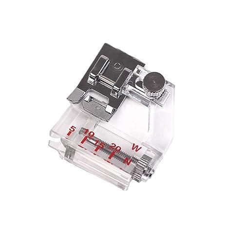 Ogquaton Máquina de Coser eléctrica multifunción Borde Ajustable Pie Prensatelas Encuadernación Encuadernación Encuadernación de prensatelas Pie