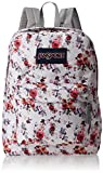JanSport Superbreak Backpack for Girls School Backpack Floral Memory Deal