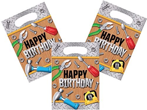 Handyman Construction Tool Theme Party Treat Bags 24 Guests (Tool Party Favors)