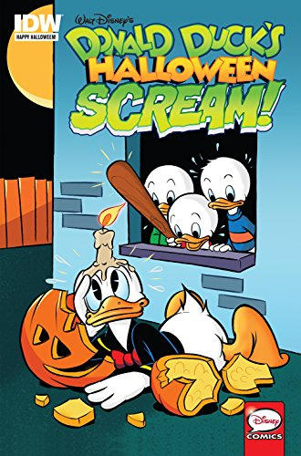 """Classic Disney haunts are home for the howl-iday! In """"It's In the Bag"""" and """"Public Ugly #1,"""" trick-or-treating Donald scares up a literal ton of candy... then is forced to get rid of it by fair means or foul!"""