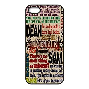 Funny SPN Supernatural Quotes Hard Rubber Phone Cover Case for iPhone 5,5S Cases by Maris's Diary