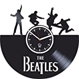 The Beatles Vinyl Wall Clock, Wall Sticker, Rock Music Band, Handmade Best Gift for Musician, Vinyl Record, Birthday Gift, Silent, Kovides, Paul Mccartney John Lennon, Valentines Day Gift